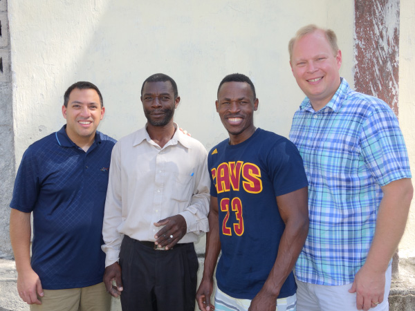 Principal Philistin Chrisnel with IIT Haiti Team