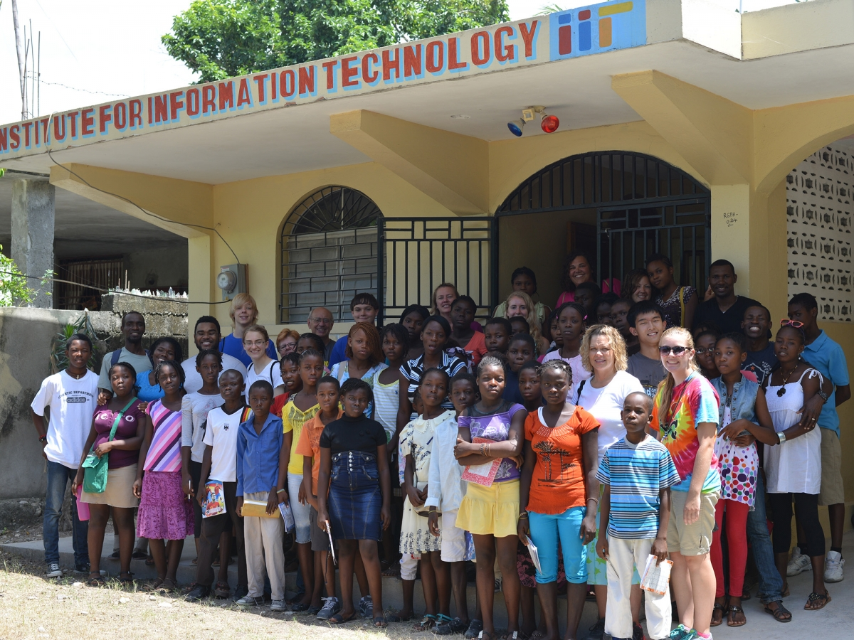 IIT Haiti Team with Children