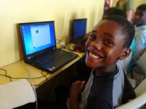 Smiling Haitian Student Boy