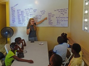 Teaching English at IIT Haiti
